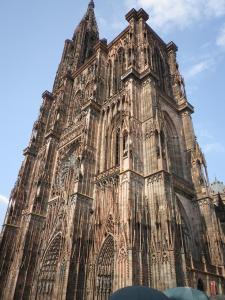 The front of the Cathedral in Strasbourg.